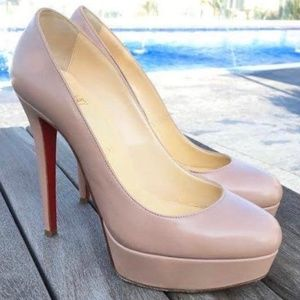 AUTHENTIC CHRISTIAN LOUBOUTIN Bianca 140/ S: 37.5